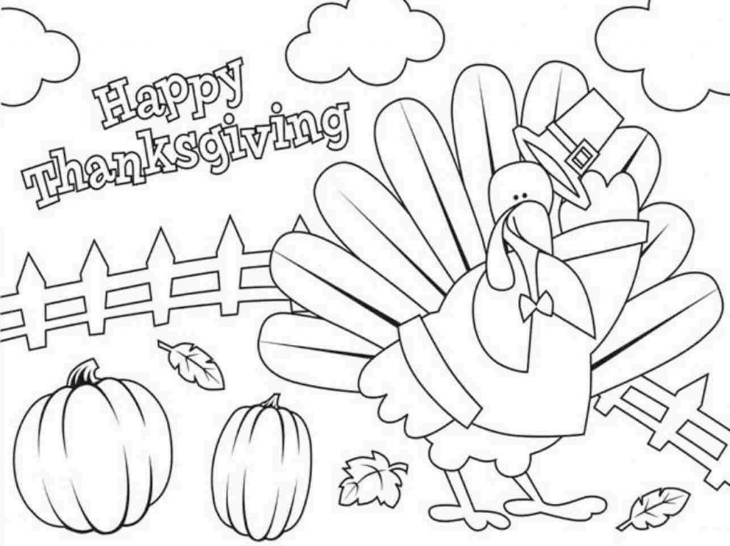 Happy Thanksgiving Coloring Pages For Kids & Preschoolers
